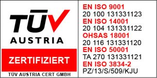 zertifiziert durch TÜV Austria