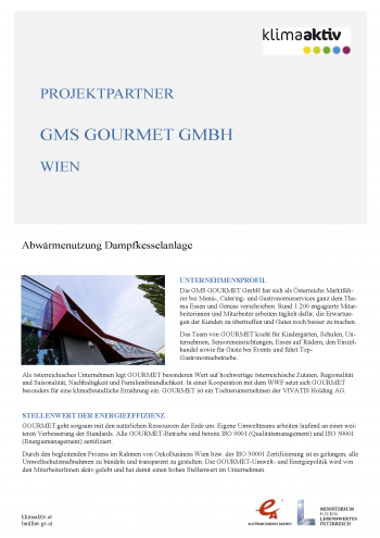 Klimaaktiv Best Practice Beispiel GMS Gourmet GmbH Seite 1