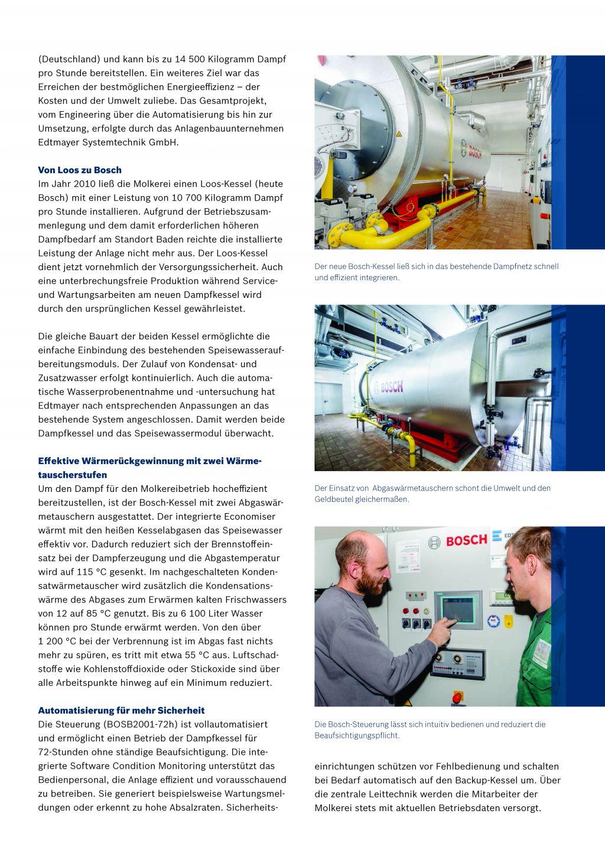 Molkerei NÖM steht unter effizientem Dampf | Edtmayer Systemtechnik GmbH