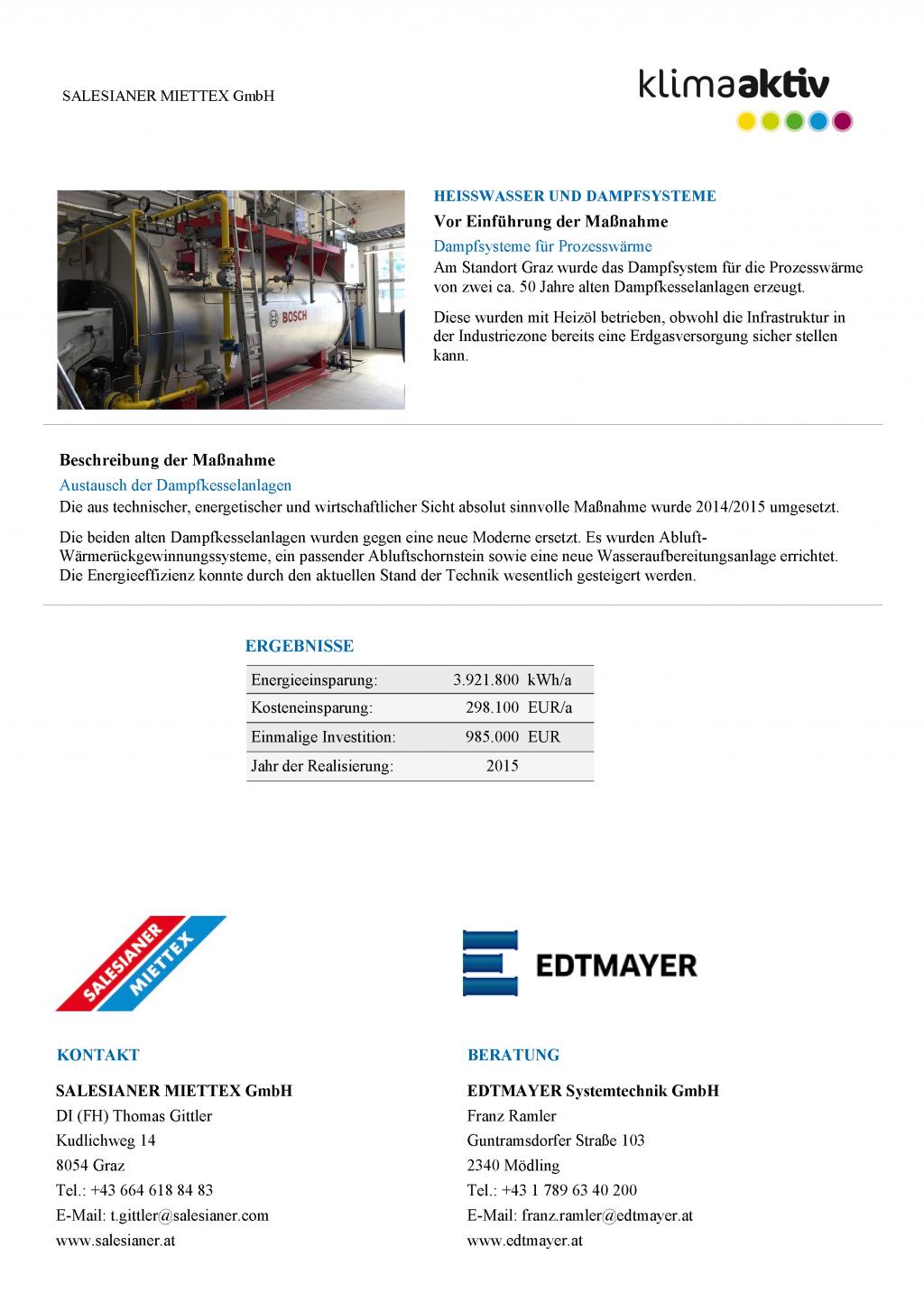 klimaaktiv awarded Edtmayer for energy optimisation project ...