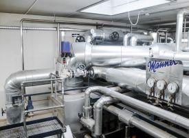 Kessel mit Wärmetauscher und Dampfabteilung