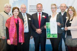 Energieeffizienzteam Edtmayer Systemtechnik GmbH mit Frau Dr. Martina Schuster, BMLFUW