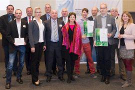 Gruppenfoto Edtmayer und Projektpartner bei klimaaktiv Fachtagung